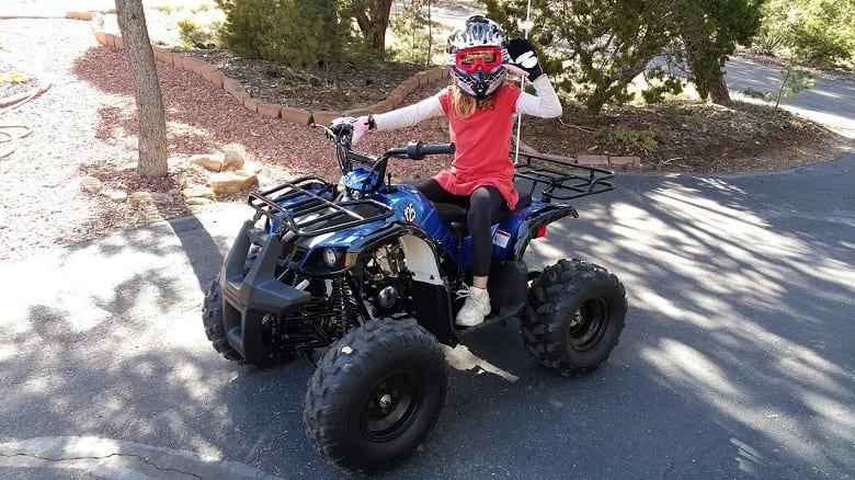 10 year old driving ATV