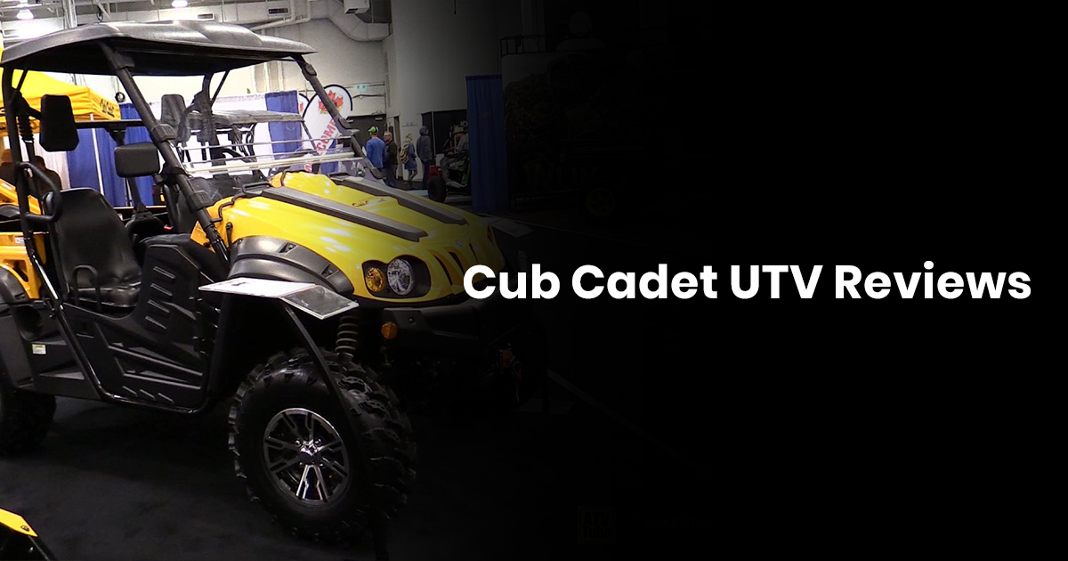 Cub Cadet UTV Reviews