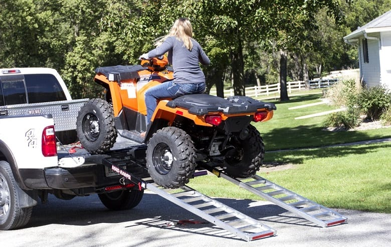 HOW DO I SECURE MY ATV RAMPS TO MY TRUCK?