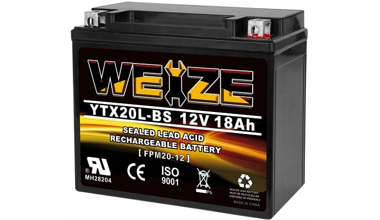 WEIZE HIGH PERFORMANCE SEALED AGM BATTERY